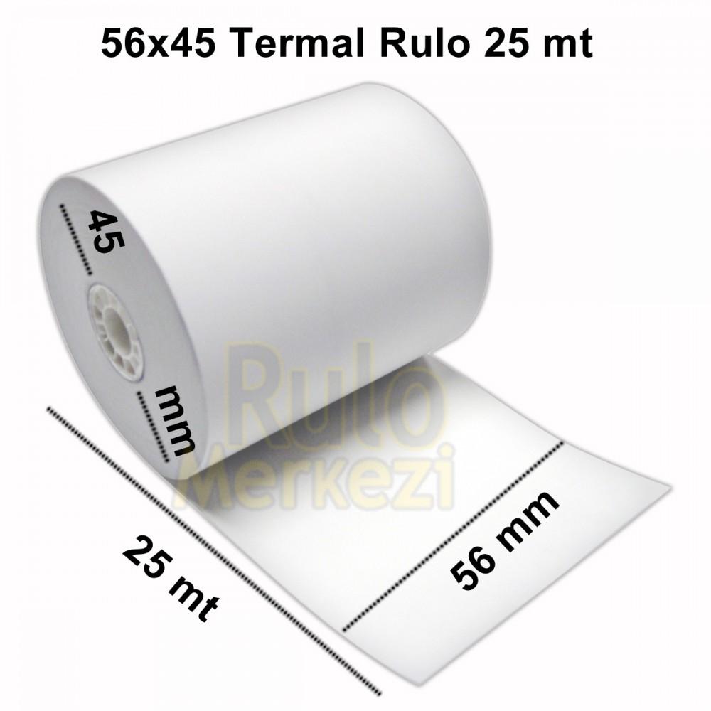 56X25 METRE TERMAL RULO PROFİLO BASKILI 200'lü PAKET