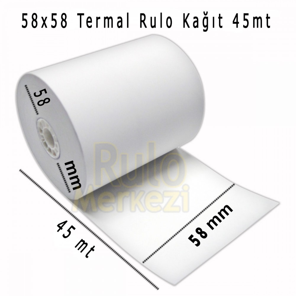 TR58X45 METRE TERMAL RULO BEKO BASKILI 55 GR 240'LI PAKET (1KOLİ)