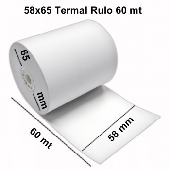 58mm Genişlik Termal Pos Rulosu